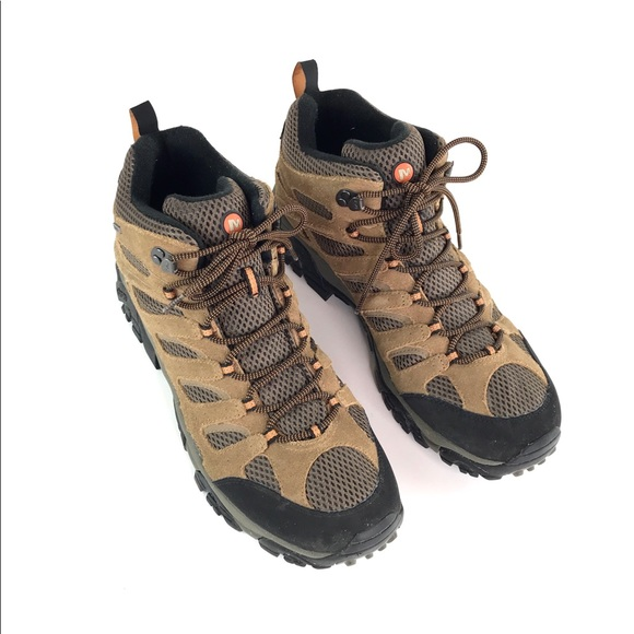 81d0d9540cb Merrell Moab Waterproof Hiking Boots Earth Size 14